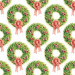 Watercolor pattern Christmas wreath — Stock Photo #14281857