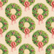 Watercolor pattern Christmas wreath — Stock Photo #14281861