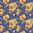 Seamless pattern with yellow hibiscus flowers. — Stock Photo #38393473