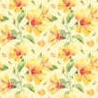 Seamless pattern with yellow hibiscus flowers. — Stock Photo #38393519
