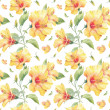 Seamless pattern with yellow hibiscus flowers. — Stock Photo #38393521