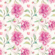 Seamless pattern with peony flowers. — Stock Photo #38406029