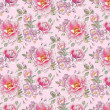 Seamless pattern with peony flowers. — Stock Photo