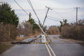 Downed Electrical Pole — Stock Photo
