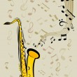 Saxophone and notes — Stock Vector #13705060