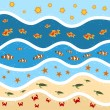 Sand and sea — Stock Vector