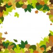 Autumn Leaves in the wind — Stock Vector