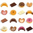 Sweets and pastries — Imagen vectorial