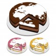 World map Cakes — Stock Vector