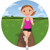 Woman running — Stock Vector