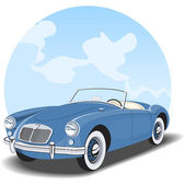 Vintage car cabriolet — Stock Vector