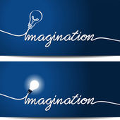 Concept imagination — Stock Vector