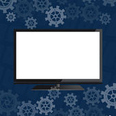 Flat screen — Stock Vector