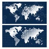 World Maps — Stock Vector