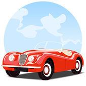 Antika cabrio araba — Stok Vektör