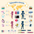 Infographics elements equality, retribution and domestic spending. — 图库矢量图片
