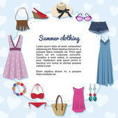 Summer clothing — Stock Vector