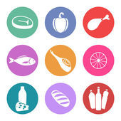 Food icon set — Vettoriale Stock