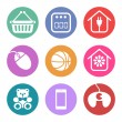 Icons Set for supermarket sections — Stock Vector