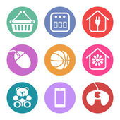 Icons Set for supermarket sections — Stockvector