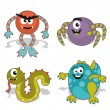 Stock Vector: Children's cartoon monster