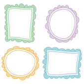 Colored frames Drawings — Stock Vector