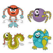 Children's cartoon monster — Stock Vector