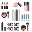 cosmetics and makeup — Stock Vector