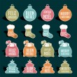 Christmas labels — Stock Vector #35510647