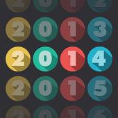 Jaar 2014 — Stockvector