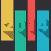 Year 2014 — Vettoriale Stock