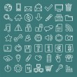 49 hand-drawn web icons — Stock Vector