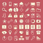 49 icone web disegnati a mano — Vettoriale Stock
