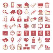 49 icônes web dessinés à la main — Vecteur