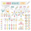 Hand doodled infographics elements — Vettoriale Stock  #39865865