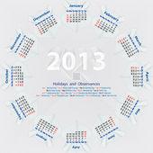 Vector calendar 2013 — Stock Vector
