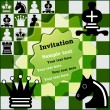 Invitation Chess Tournament — Vector de stock #12409357