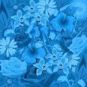 Flowers in the moonlight — Stock Vector
