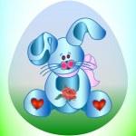 Cute bunny vector illustration — Stock Vector