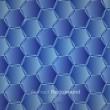 Hexagons blue background — Stock Vector