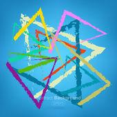 Triângulos de abstração em muitas cores — Vetorial Stock
