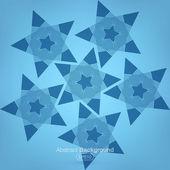 Blauen Sternen Hintergrund — Stockvektor