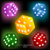 Colorful dices — Stock Vector