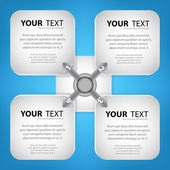 Your text box with abstract — Stock Vector