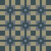 Seamless geometric pattern on vector fabric texture — Stockvector