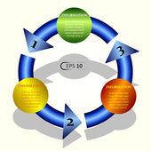 Modelo de banner circular colorida — Vetor de Stock