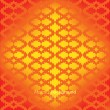 Stock Vector: Ethnic abstract geometric ornament orange background