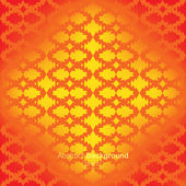 Ethnic abstract geometric ornament orange background — Stock Vector