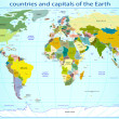 Countries and capitals of the Earth - Stockvektor