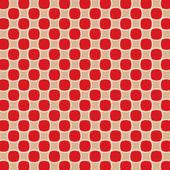 赤の背景に楕円形正方形 — ストックベクタ